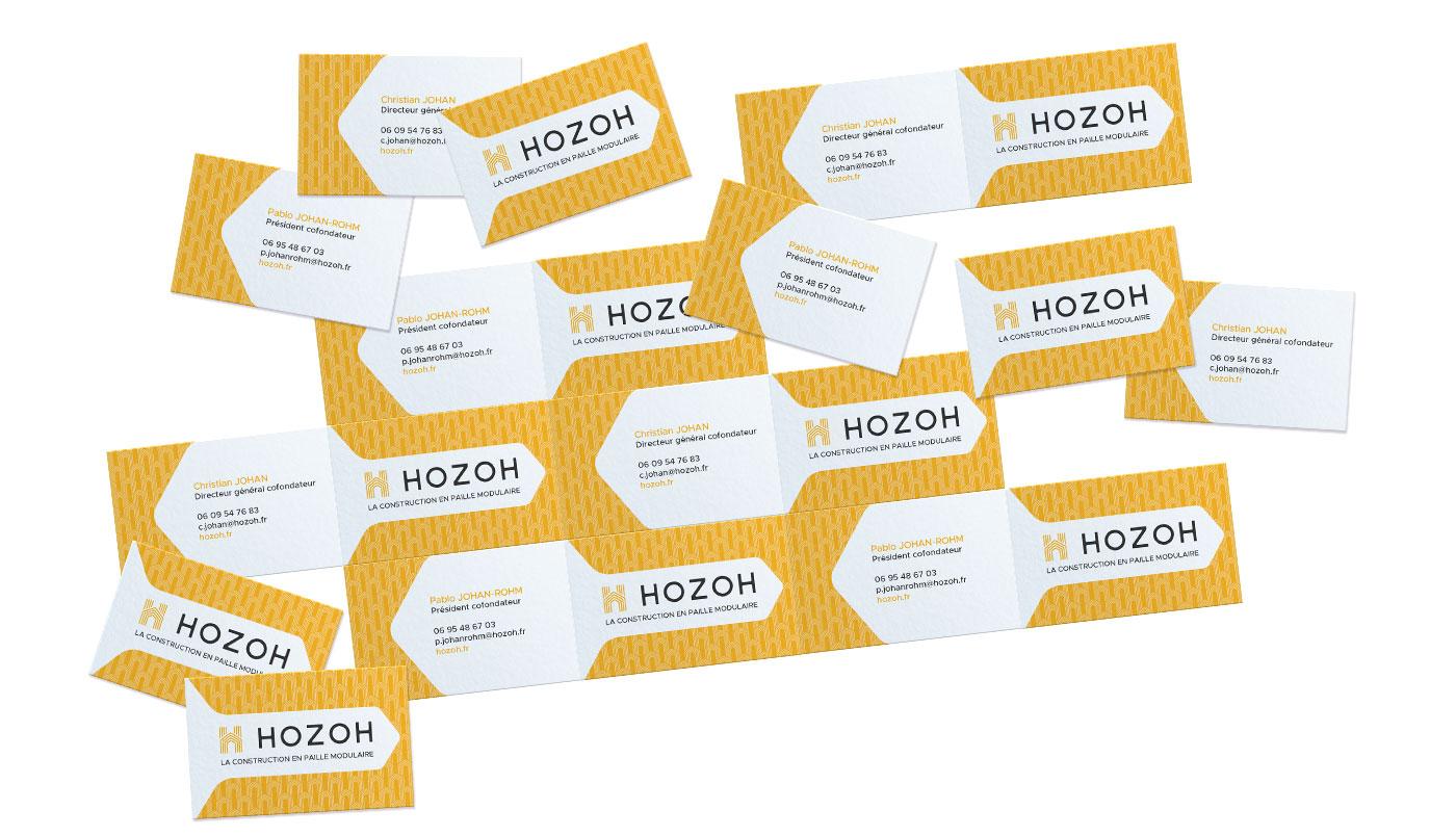 Hozoh, les cartes de visites et logo